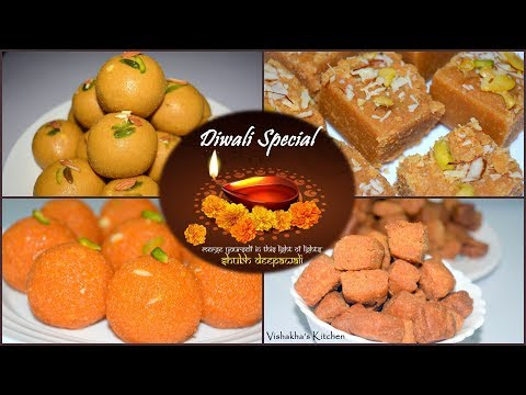 5 Easy & Quick Diwali special sweet dishes | Indian sweet for Diwali festival | Vishakha's Kitchen