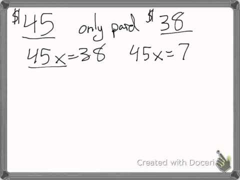 Finding percent increase and decrease from two values