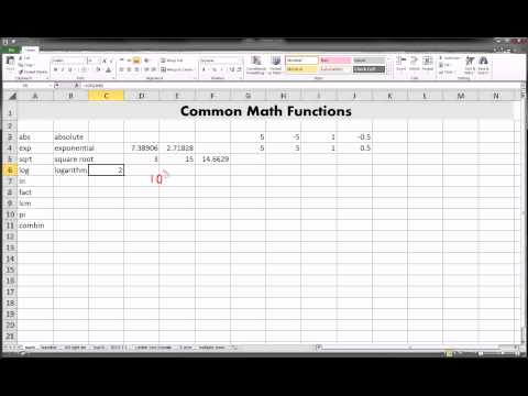Excel - MATH functions
