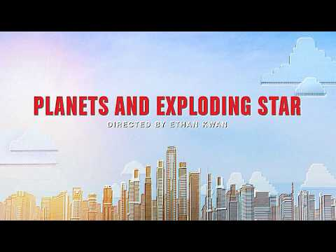 Planets and Exploding Star - My First Stop Motion Animation Video