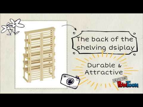 6 Tier Rustic Shelving, Shelving Display With Pine Shelves Finish
