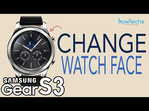 Samsung Gear S3 - How to Change Watch Face / Customize Watch Face