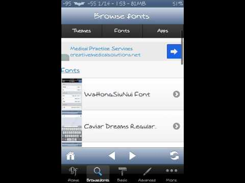 Bytafont, change iphone Font, change numbers, system font ios6.1