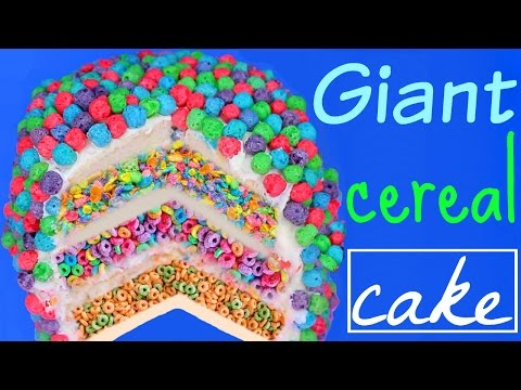 GIANT CEREAL CAKE! 4 CEREAL FLAVORS!