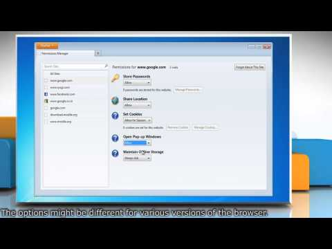 Mozilla® Firefox: How to let certain websites save password, cookies etc. in Windows® 7