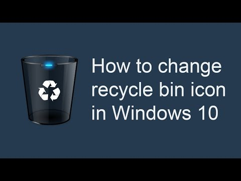 How to change recycle bin icon in Windows 10
