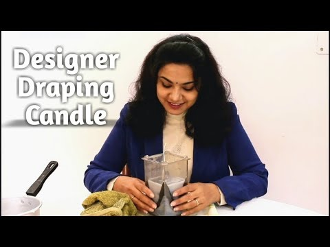 Draping Candle Making Tutorial / Create Curtain Pattern On Candle