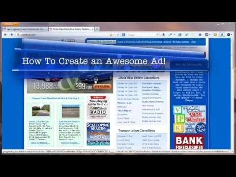 How to Create an Awesome Classified Ad