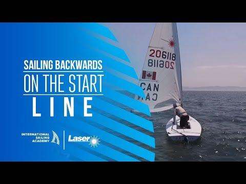 Laser Racing: Sailing Backwards on the Start Line