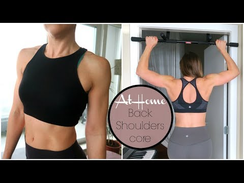 Train your Back and Shoulders at Home // Pull-ups + Core work