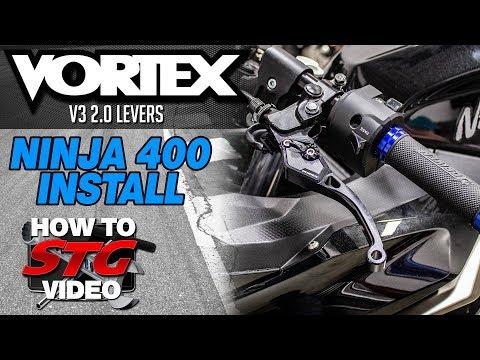 Vortex Kawasaki Ninja 400 V3 2.0 Levers Install | Sportbike Track Gear