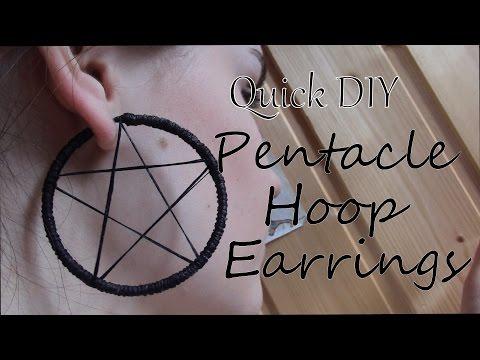 Quick DIY: Pentacle Hoop Earrings | 6BlackIvory6