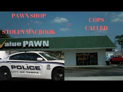 STOLEN Apple Macbook at pawn shop. Cops Came