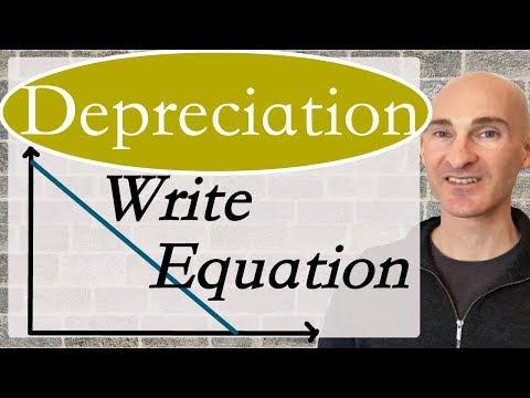 Depreciation Writing a Linear Equation