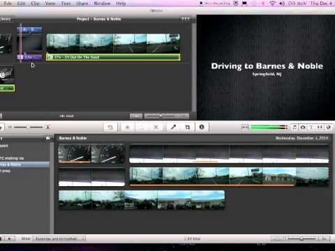 iMovie '11 Stretching Audio