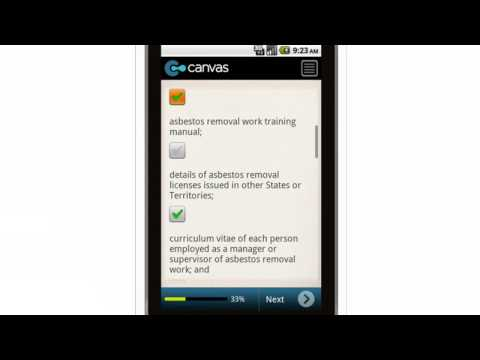 Canvas Asbestos in the Construction Industry Obtaining a Licence Checklist Mobile App