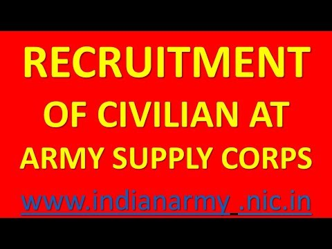RECRUITMENT  OF CIVILIAN AT  ARMY SUPPLY CORPS