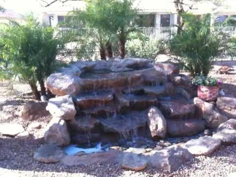 Pebble creek back yard