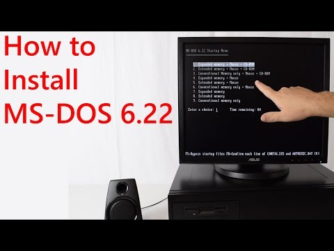 How to install MS DOS 6.22