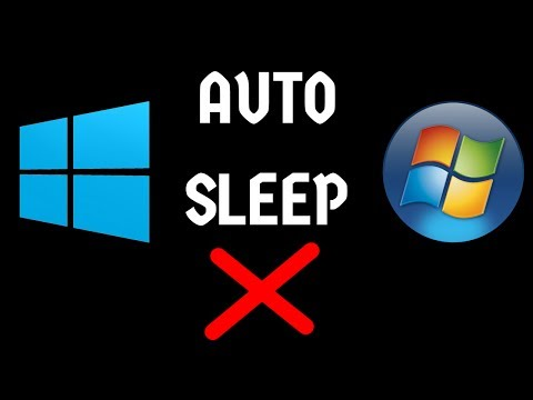 how to disable auto sleep on windows 10/7/8 (all version -easiest way)