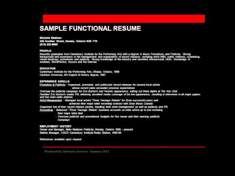Writing a Resume and Cover Letter