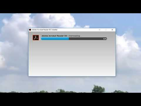 How to Download and Install the Adobe PDF Reader Software Window 10/8/7