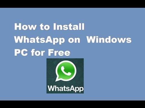 How to Install WhatsApp Windows PC ( Windows 7/8/XP/Vista )