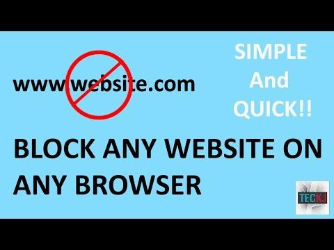 How To Block Websites On Computer