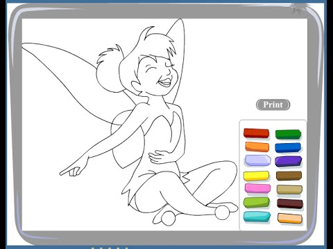 Free Tinkerbell Coloring Pages For Kids - Tinkerbell Coloring Pages
