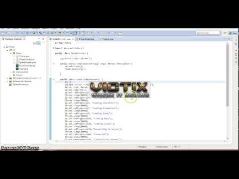 SplashScreen + Client for a new Java MMORPG Game!