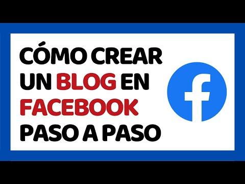Cómo Crear un Blog Personal en Facebook 2018 | Cómo Usar Facebook 2018
