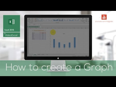 VideoExcel - How to create graphs or charts in Excel 2016 (Charts 101)