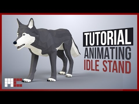 Wolf - Animating Stand Idle Game Animation (3ds Max CAT Tutorial)