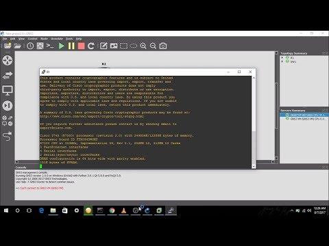 Fix eth0 error GNS3 (windows 10, 2017)