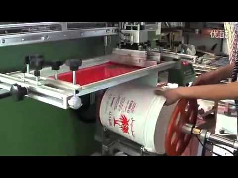 LC 1200E large size  cylinder Screen Printer for plastic bucket/Container/ Paint Pails