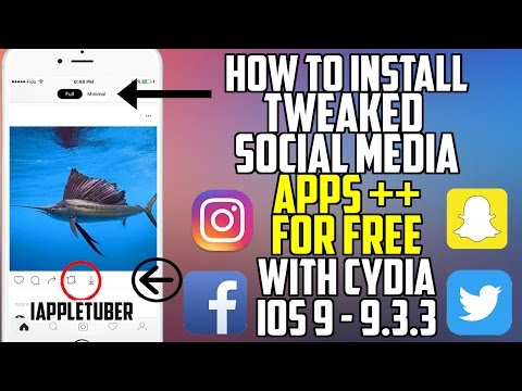 How To install Tweaked Instagram, Snapchat, Facebook & more with Cydia iOS 9.2 - 9.3.3 FREE!!