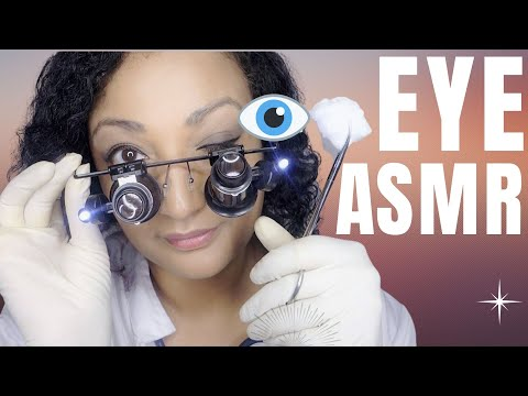 ASMR eye exam medical check up roleplay *close up eye check and vision test