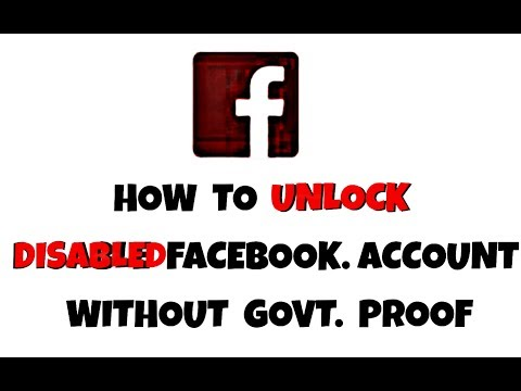 How To Unlock Disabled Facebook Account Without Govt. Proof