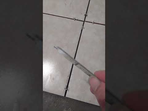 Tile joints wet cleaning tools (homemade)