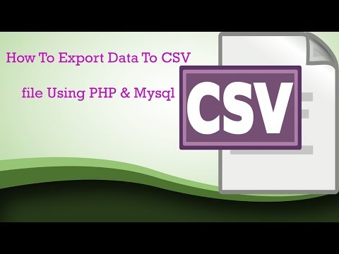 How to Export Data to CSV File using PHP and MySQL || php array to string