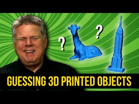 Blind Man Guessing 3D Printed Objects of Oversized Things