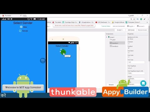 How to Use Check box in thunkable or appybuilder || android app development