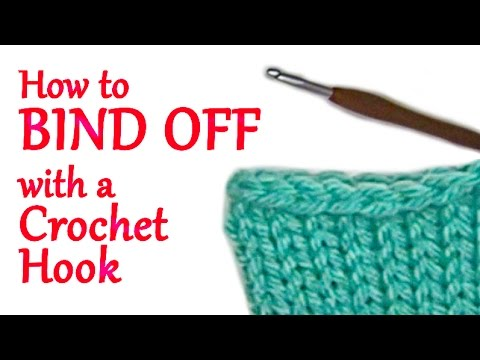 How to Bind Off your Addi Knitting Machine Projects With a Crochet Hook | Yay For Yarn