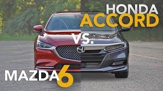 2019 Honda Accord vs. Mazda6 Comparison