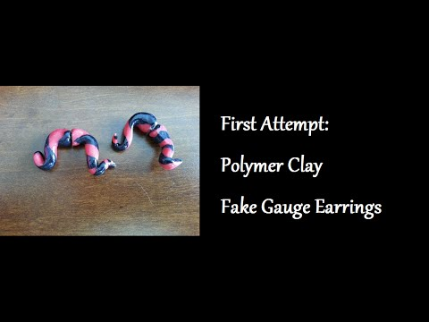 First Attempt: Polymer Clay Fake Gauge Earrings
