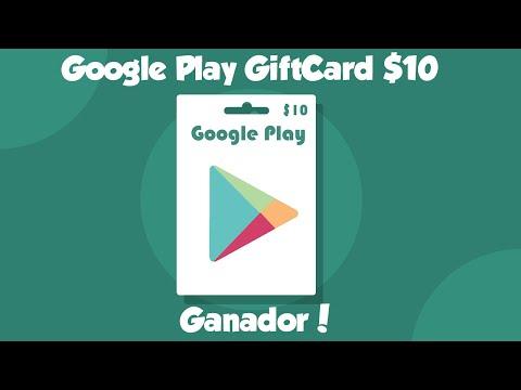Giftcard Google Play $10 Gratis| Ganador de la rifa!