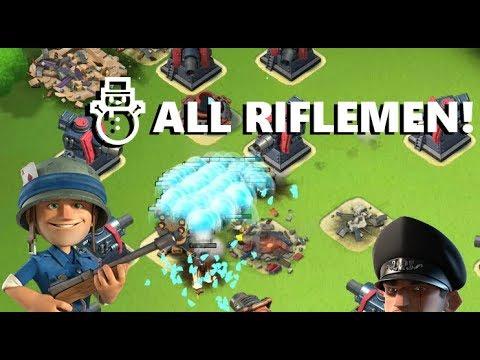 Boom Beach - The third hero: Riflemen + Ice Shield = OP??