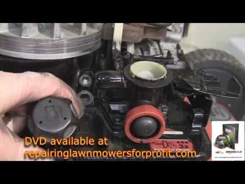 How to replace the diaphragm and gasket on a briggs and stratton petrol lawnmower