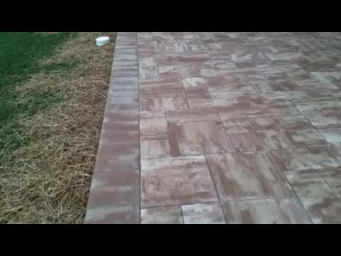 Nicolock travertine elevated patio hardscape from Stone Ridge XL Hanover, PA Ryan's Landscaping