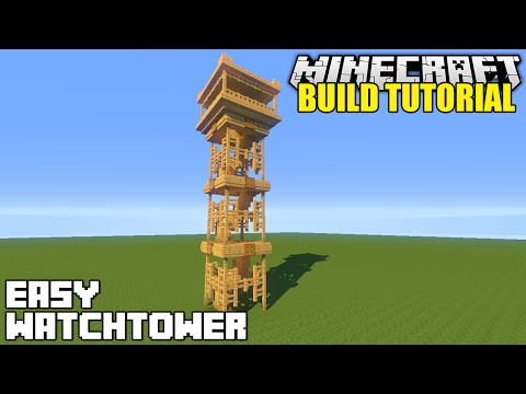 Minecraft: How To Build A Watchtower Tutorial (Simple & Easy)